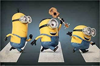 Poster Minions - Abbey Road - preiswertes Plakat, XXL Wandposter