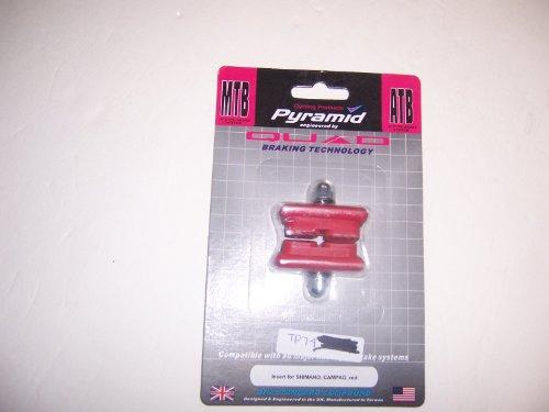 Buy Low Price PYRAMID QUAD BRAKE MTB ATB BRAKE PADS RED (B00474XQ4M)