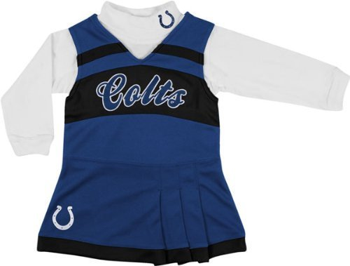Indianapolis Colts Girls Infant/Baby Blue Jumper & Turtleneck Set (12 Months) at Amazon.com