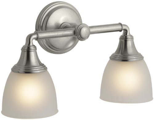 KOHLER K-10571-BN Devonshire Double Wall Sconce, Vibrant Brushed Nickel