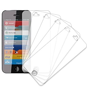 MPERO® 5 Pack of Screen Protectors for New Apple iPhone 5 / 5G