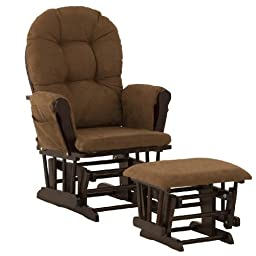 Stork Craft Hoop Glider and Ottoman, Espresso/Chocolate