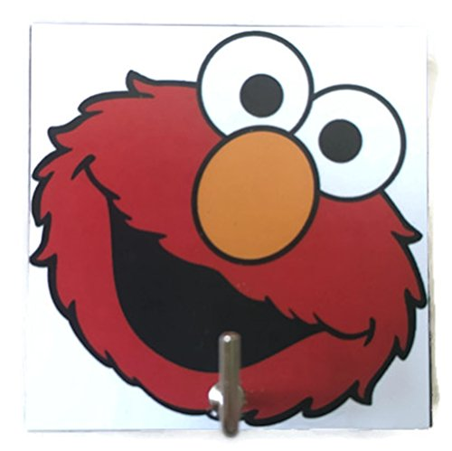 Agility Bathroom Wall Hanger Hat Bag Key Adhesive Wood Hook Vintage Elmo's Photo (Potty Time With Elmo App compare prices)
