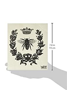 Swedish Treasures Wet-it! Cleaning Cloth, Works Great in Kitchen, Bathroom or Any Room, Reusable & Biodegradable, Black French Bee