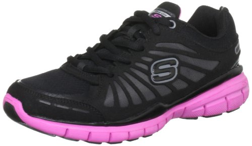 Skechers USA Ltd Women's Tone Ups Run Black/Hot Pink Training Shoes 11775 3 UK