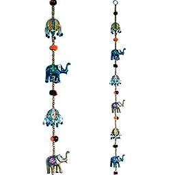Door Hanging, Rajasthani Elephant Door Hanging Handicraft Jaipuri Door Hanging Showpiece Figurine_TR_Showpiece_0003