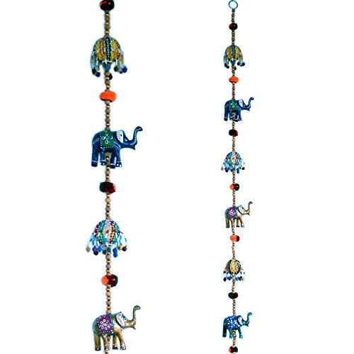 EtsiBitsi Rajasthani Multicolor Elephant Door Hanging Handicraft Jaipuri Door Hanging Showpiece Figurine  available at amazon for Rs.399