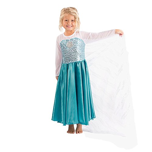 Kids Halloween Frozen Elsa Anna Costume Disney Princess Girls Child Outfit Dress