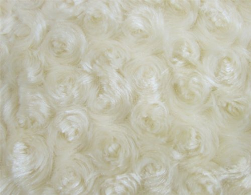 Camera Photo Floor Prop Faux Fur Artificial Fur, Newborn Baby Photography Props, Basket Stuffer Blanket - Baby Props, Basket Fabric (Ivory Rosette)
