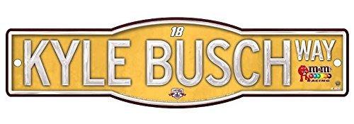 kyle-busch-official-nascar-4x17-street-sign