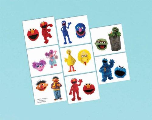 Amscan Sesame Street Tatoos, Multicolor