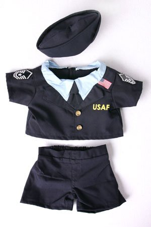 "Air Force Uniform Outfit Teddy Bear Clothes Fit 14"" - 18"" Build-a-bear, Vermont Teddy Bears, and Make Your Own Stuffed Animals"