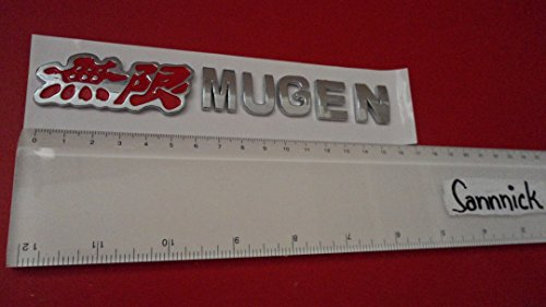 RED ROUGE HONDA MUGEN ABS BADGE EMBLEM CAR AUTO VOITURE ABZEICHEN EMBLEME STICKER CHROME DECAL DECO LOGO uk