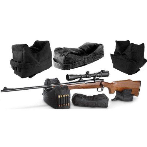 Ultimate Arms Gear Stealth Black QD Universal Pro Series Front, Middle & Rear 3 Piece Shooting Rifle Shotgun Bolt Action & Muzzle Loader Steady Shooter Support Bench Hand Arm Rest Bag Holds 5 Round Ammo Ammunition Cartridge Holder Range Kit Set Combo (3 Gun Range Bag compare prices)