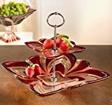 61% Off Aurora Ruby 2-Tier Serving Platter