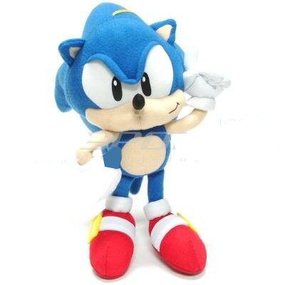 10 Inch Sonic the Hedgehog Plush Doll - Sonic the Hedgehog Stuffed Toy by PT