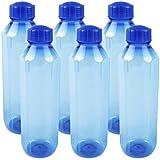 Cello Hexa Plastic Pet Bottle, 1 Litre, Set Of 6, Blue