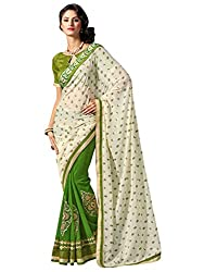 coolwomen women's georgette embroidered free size fancy saree-cw_cwRGNA356_multicolor_free size