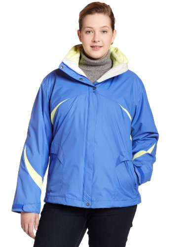 Columbia Womens Plus Size Snowbird Slope Parka, Bright Blue, 3X