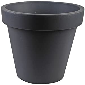 grand pot de fleur en plastique 40cm imitation style pierre de granit pour plantes de jardiniere. Black Bedroom Furniture Sets. Home Design Ideas