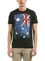 Hot Buttered Camiseta Manga Corta Flag (Negro)