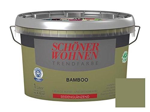 Sch ner wohnen trendfarben seidengl nzend bamboo 1 l for Braun mischen
