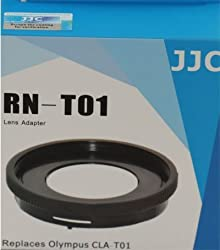JJC RN-T01 Professional Lens Adapter 40.5mm for Olympus Tough TG-1 TG-2 TG-3 TG-4 iHS Digital Camera Replaces CLA-T01