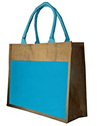 Foonty Blue Strip Jute Bag
