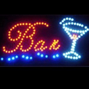 Led Bar Martini Sign 19X10