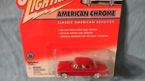 JOHNNY LIGHTNING 1:64 SCALE AMERICAN CHROME SERIES RED 1955 CHRYSLER C-300 DIE-CAST COLLECTIBLE by Playing Mantis - 1
