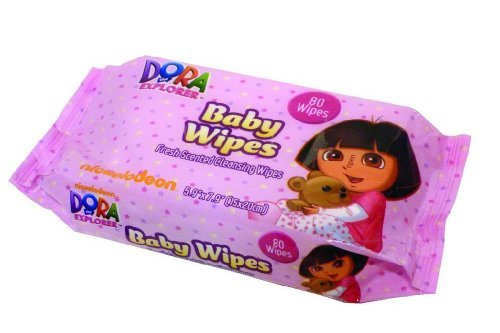 Dora the Explorer Baby Wipe 3 Pack - 1