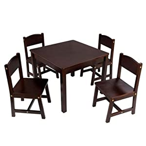 kidkraft farmhouse table and chair set toys games. Black Bedroom Furniture Sets. Home Design Ideas