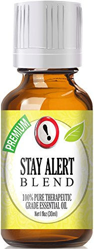 Stay Alert Blend 100% Pure, Best Therapeutic Grade Essential Oil - 30ml / 1 (oz) Ounce - Eucalyptus, French Lavender, Peppermint