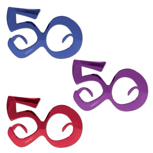 50 Metallic Fanci-Frames (asstd blue, purple, red) Party Accessory  (1 count) (1/Pkg)
