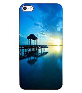 ColourCraft Amazing Scenery Design Back Case Cover for APPLE IPHONE 4