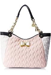 Betsey Johnson Be My Bow Satchel BJ43925 Top Handle Bag