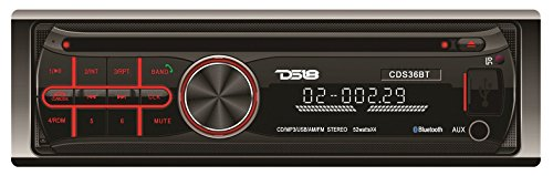 Ds18 Cds36Bt Detachable Faceplate Radio With Bluetooth, Usb, Cd, Mp3 And Am/Fm Receiver