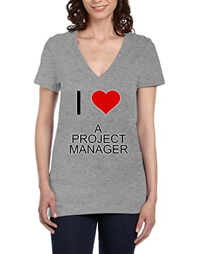 i-love-a-project-manager-womens-v-neck-t-shirt-xx-large