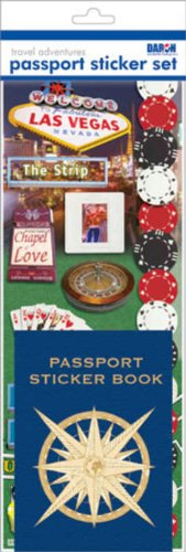 Passport Sticker Sets PP59121 Passport or Scrapbooking Sticker Set-Las Vegas
