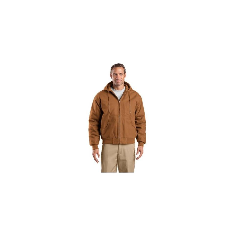 CornerStone Duck Cloth Hooded Work Jacket (J763H) Duck Brown   X Large