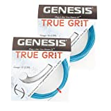 Genesis True Grit Tennis Racquet String Set - Guage 16, Metallic Blue By Genesis