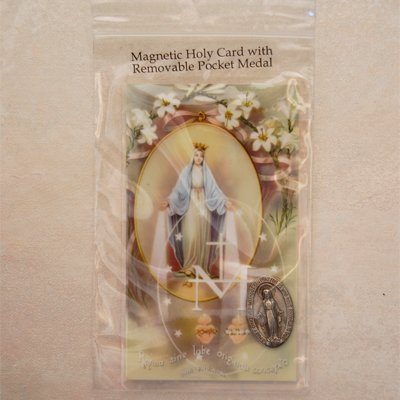 Magnetic Miraculous Holy Card & Removable Miraculous Pocket Medal