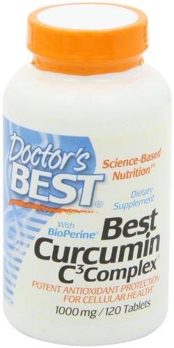 Doctor's Best Curcumin C3 Complex with Bioperine 姜黄素胶囊  1000 mg 120粒美国亚马逊