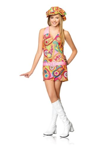 2 Piece Junior Miss Groovy Hippie Costume
