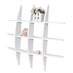 Welland 29.5 Inch x 4.25 Inch x 29.5 Inch Lexington Globe Cross Display White Wall Shelf