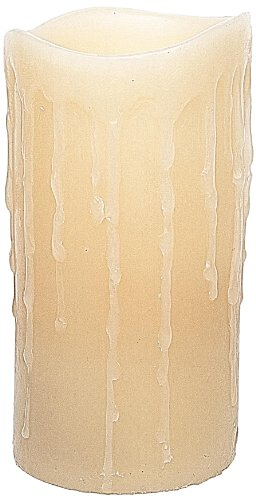 The Amazing Flameless Candle Light Drip Flameless Candle, 3 By 6-Inch, Tan