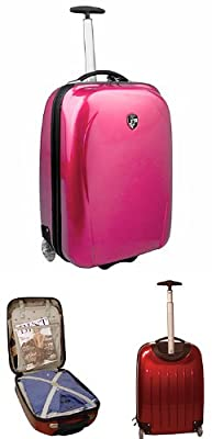 Heys X Case Polycarbonate Carry On in Fuchsia by Heys