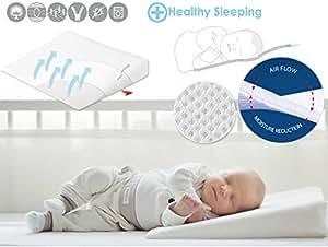 Deluxe Baby Wedge Pillow Acid Reflux Relief Flat Head