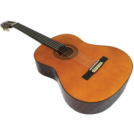 39″ Inch 3/4 Classic Student Beginner Classical Nylon String Guitar & DirectlyCheap(TM) Translucent Blue Medium Guitar Pick