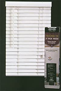 2 faux wood blinds 35 x 36 ships next day window treatment horizontal blinds. Black Bedroom Furniture Sets. Home Design Ideas